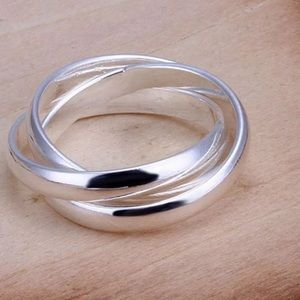 925 sterling Silver Triple Ring
